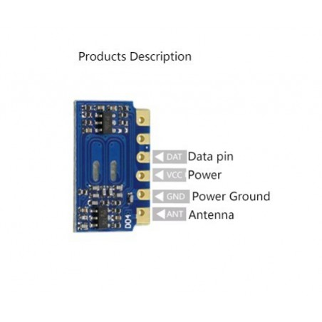 DWM-H3V3F 3V 0.28mA 433MHz Low Cost Low Power ASK /OOK Receiver RF module
