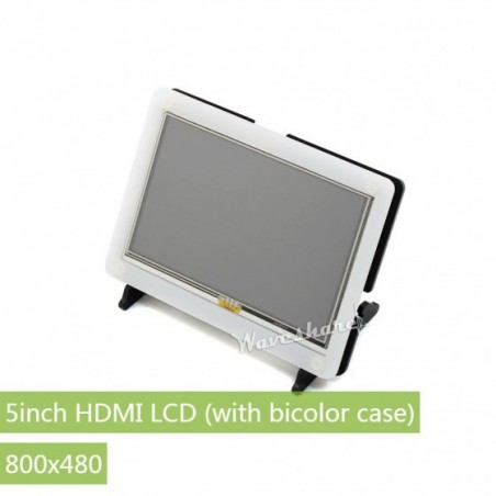 Raspberry Pi 5inch HDMI LCD + Bicolor case 800×480 Capacitive Touch Screen