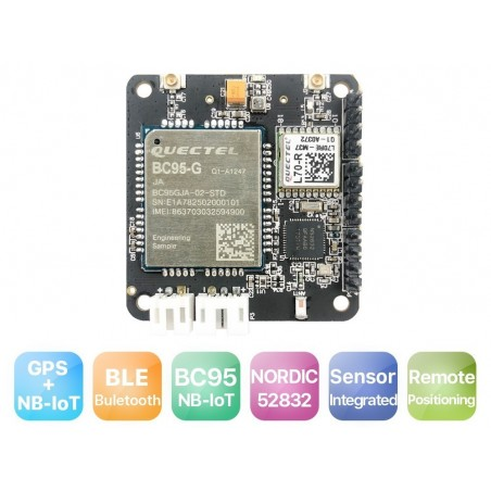 RAK8211-NB iTracker combines NB-IoT+BLE+GPS+ 5 Sensors Development Board