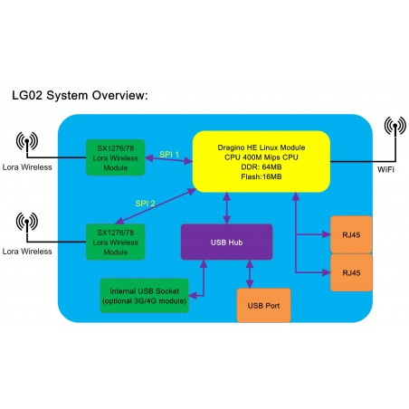 OLG02 Outdoor Dual Channels LoRa IoT Gateway