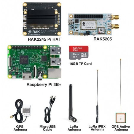 DWM-RAK2245 Pi HAT Raspberry Pi 3B Lora Tracker start kit