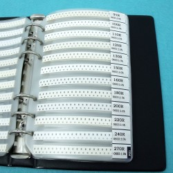 DWM-0603 SMD Resistor Assorted Book kit 0603 package 50 x 170 values
