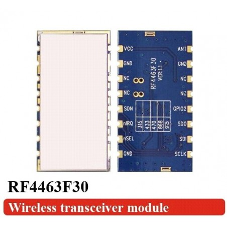 DWM-RF4463F30 SI4463 +30dBm Output FSK Wireless Transceiver Module