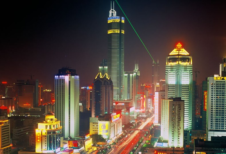 Huaqiangbei-Night-overview