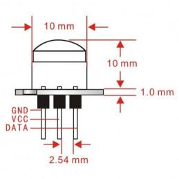 DWM-PM-6 20uA Lowest standby Current Mini Infrared PIR module