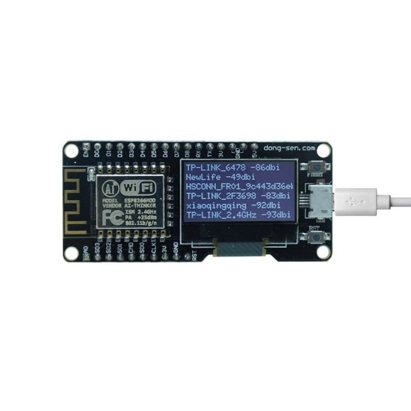 D-duino ESP8266 IOT WiFi NodeMCU Board with 0.96OLED