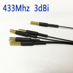 Spring-Antenna 433MHz 2.5dbi gain with IPEX Connector extension cable