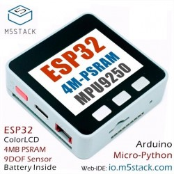 M5Stack 4M-PSRAM ESP32 IoT Development Board with Mpu9250 9Axies Motion Sensor