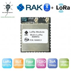 DWM-RAK813 LoRa and Bluetooth Module nRF52832 and LoRa SX1276 core chip