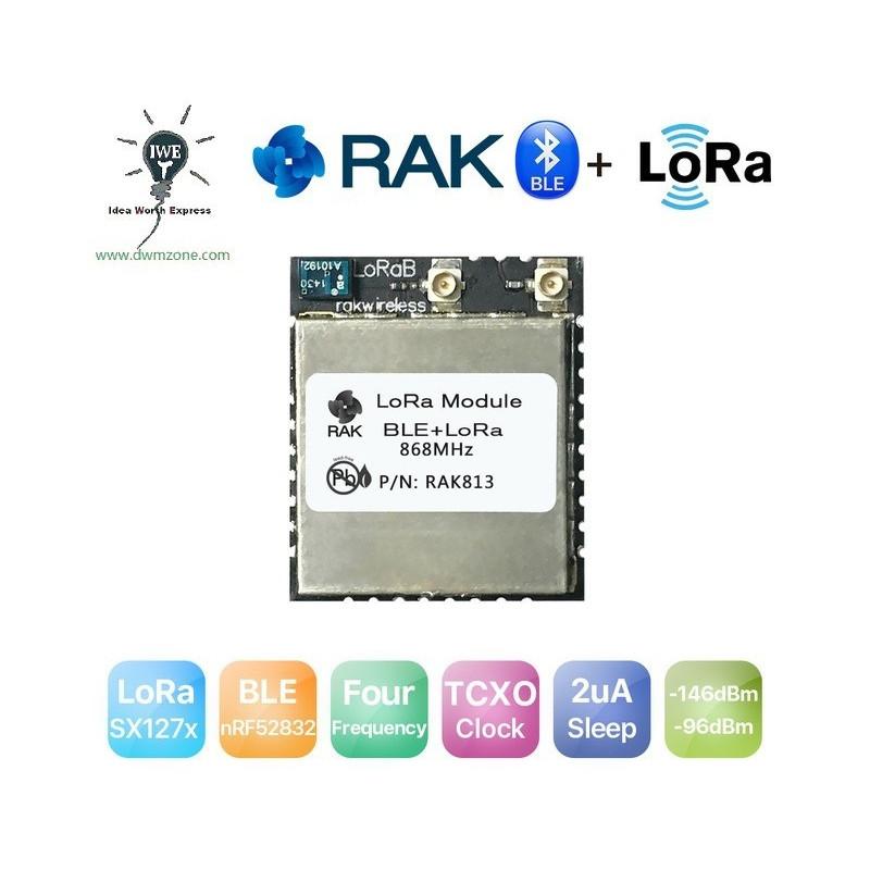 DWM-RAK813 LoRa and Bluetooth Module nRF52832 and LoRa SX1276 core chip