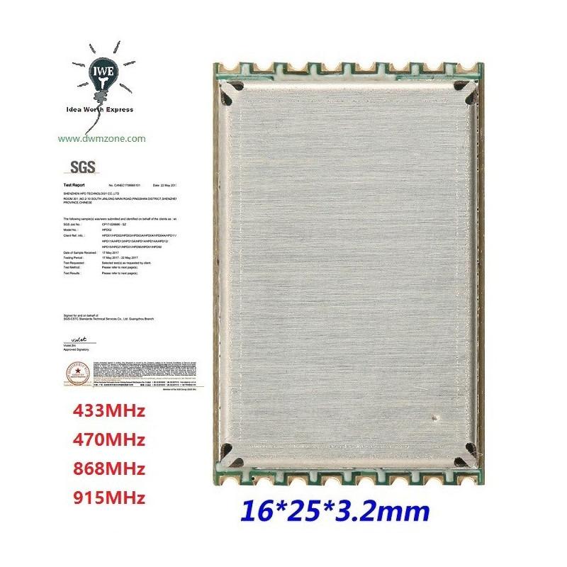 HPD13AP /HPD14AP +30dBm Enhanced Power LoRa Long Range Transceiver Module