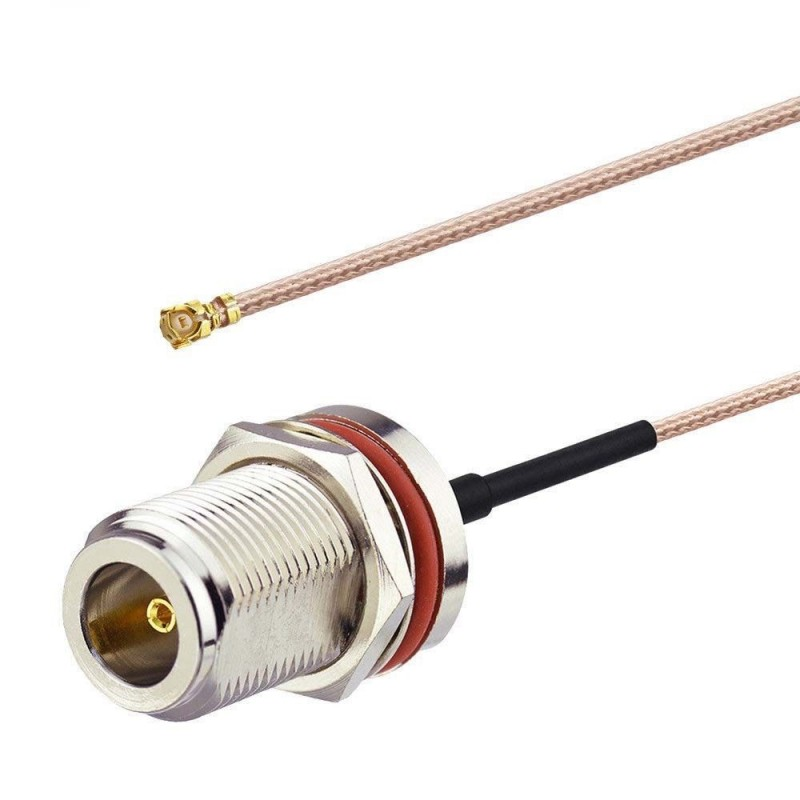DWM-IPEX to N Female Bulkhead Jack with RG316 extension jumper cable
