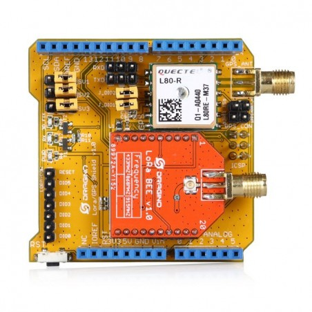 Free Shipping The Lora /GPS Arduino Shield with 433MHz /868MHz /915MHz Versions