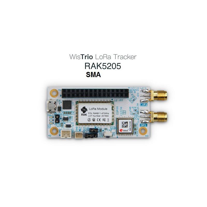 DWM-RAK5205 LoRa Tracker built on SX1276 LoRaWAN modem with low power micro-controller STM32L1 integrated the GPS module