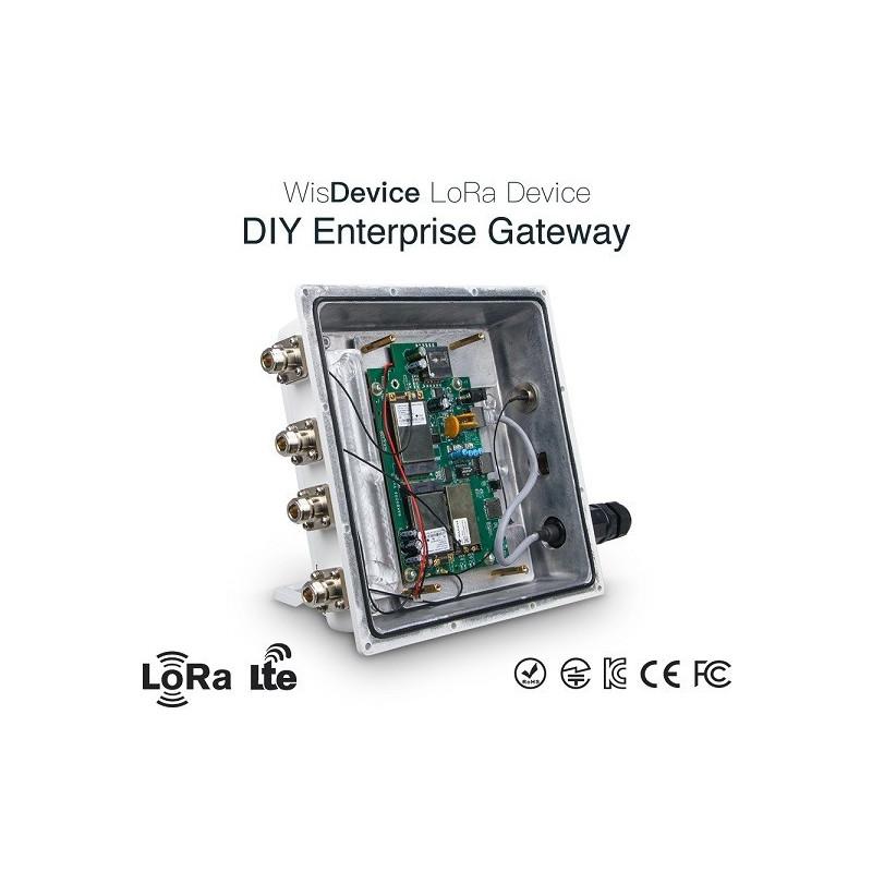 DWM-RAK7249 8 channels OpenWRT OS DIY Enterprise LoRa Gateway with  LoRa/4G/WIFI/GPS