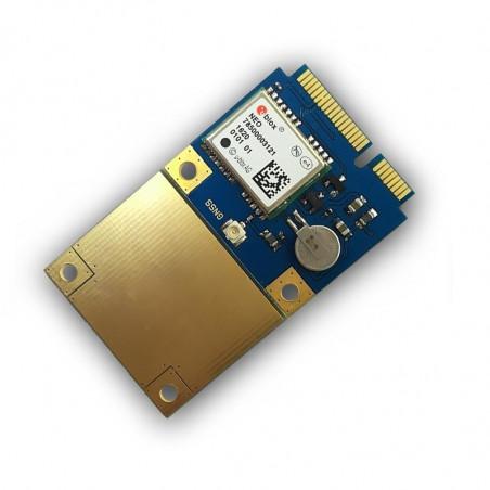 DWM-RYP820N GPS/Glonass/Galileo/BeiDou Mini PCIe Card with u-blox 72-channel NEO-M8N UDR module.
