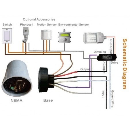 SZ10-LoRa-NEMA Lora outdoor photo control switch automatic street light controller