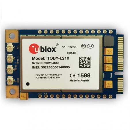 DWM-RYT2000 series is based on u-blox TOBY-L2 series the Mini PCIE Card 4G LTE module