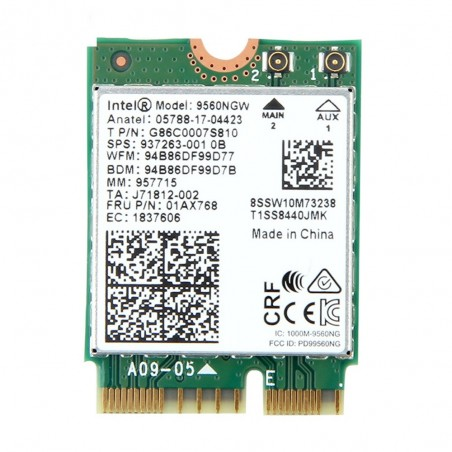 Dual Band Intel 9260AC provides 2x2 802.11ac Wi-Fi&Bluetooth 5 module for Laptop Windows 10