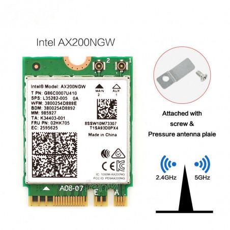 Intel AX200 Dual Band 802.11ax Wifi 6 Wi-Fi Adapter With BT 5.0 MU-MIMO