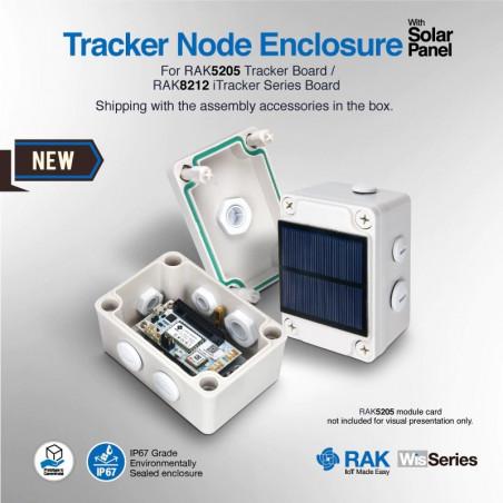 RAK7205 LoRa Tracker With Solar Panel built on RAK5205 integrated the Ublox Max 7Q module