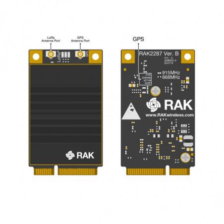 DWM-RAK2287 build in Semtech SX1302 with a ZOE-M8Q GPS chip mini-PCIe LoRaWAN module