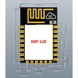 DWM-ESP-12E ESP8266 Serial Wi-Fi Wireless Transceiver Module for Arduino /  RPi Built-in Antenna