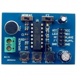 DMW-ISD1820 Sound / Voice Recording and Playback Module Board (3~5V)