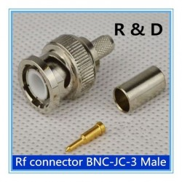 DWM-BNC male crimp plug for RG59 coaxial cable