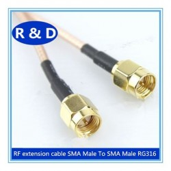 DWM-SMA Male to SMA male 50ohm RF coaxial RG316 extension jumper cable