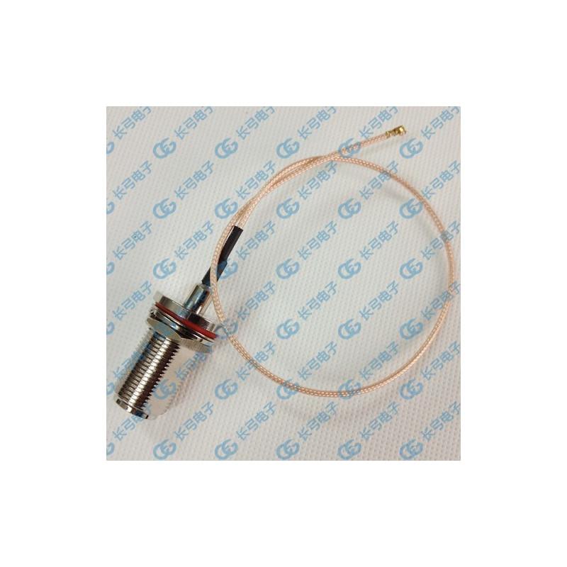 DWM-N N Female Bulkhead Jack with RG178 extension jumper cable
