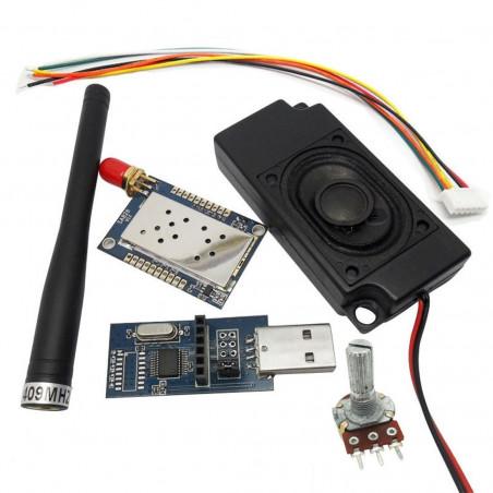 2Sets DWM-SA828 1W 5km range for Pocket /handheld device walkie talkie /tytera radios /trunking radio Voice module Kits