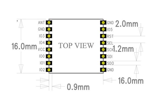 dwmzone-HPD13A-Sx1276 -868MHz -915MHz-LoRa -transceiver-RF -module-pin